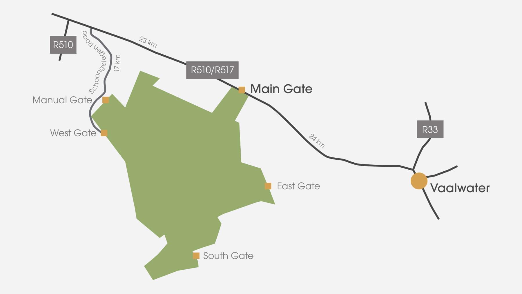 Welgevonden Game Reserve Map2